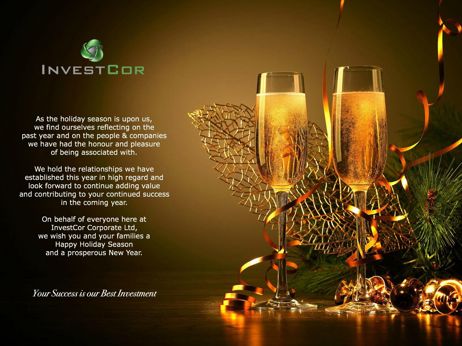 Seasonal Greetings from InvestCor - 1